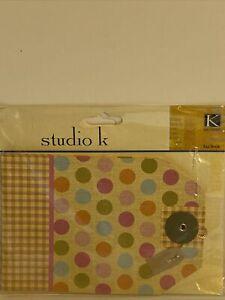 """STUDIO K POLKA DOT & GINGHAM TAG BOOK K&Company 531352 Brand NEW! 4.5""""x6.5"""""""