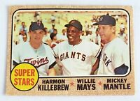 1968 Topps Super Stars  #490 (Mantle, Mays, Killebrew)  ****set break***