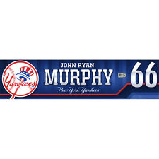 JOHN RYAN MURPHY GAME USED LOCKER TAG CAUGHT LAST PITCH FOR YANKEES 10,000th WIN