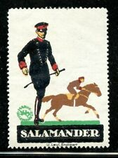 Germany Poster Stamp Salamander Boots Shoes Horse Rider in Formal Attire Fashion