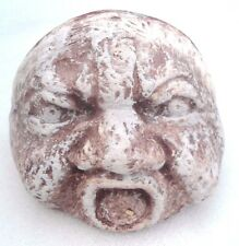 """grumpy face rock mold poly plastic mould free standing 4.5"""" x 3.5"""" x 3.5"""""""