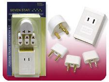 New 220v to 110v 1600W Voltage Converter International Travel Plugs Combo Kit