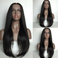 Hot Full Lace Wigs Brazilian 100%Virgin Human Hair Lace Front Wig Silky Straight