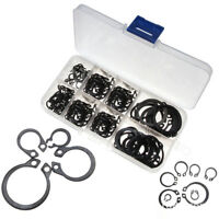 CW_ FT- 160Pcs 6mm-25mm Stainless Steel C-Clip Retaining Circlip Assorted Set+Ca