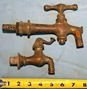 True Victorian Bronze Brass Faucets / Spigots 1890's Early Set