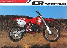 1989 HONDA  CR500RK CR250 CR125 CR80  6 Page Motorcycle Brochure NCS