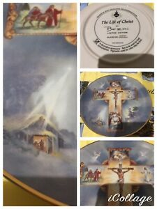 Vintage The Life Of Christ Plate By Bar Zoni No. DD3747 Fine Porcelain Early 90s
