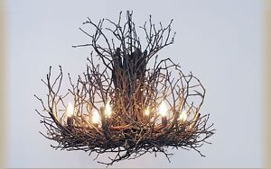 DEANNA WISH Branchelier RUSTIC Appalachian LIGHT Branch CUSTOM Chandelier Foyer