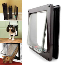 4 Way Locking Lockable Pet Cat Puppy Dog Magnetic Flap Safety Door Frame Gate