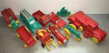10 Vintage ORIGINAL Sun Rubber Toys Excellent Near Mint Road Sweeper Crane Bell
