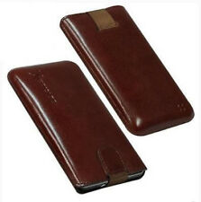 Für Nokia E7 Handy ECHT LEDER Tasche / Case / Etui / Hülle Braun NEU
