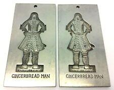 Pair Two Gingerbread Man Cookie Molds Shop Williamsburg VA Aluminum CW24-20