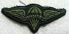 /US Army Badge Parachute Wings RIGGER,cloth subdued