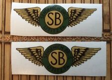SENSENICH SB BROTHERS ORIGINAL WOOD PROPELLER AIRCRAFT DECAL SET OF 2.