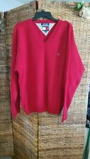 Tommy Hilfiger Red V-Neck Sweater XXL 100% Shetland Wool