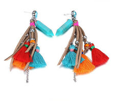 MARNI H&M Multi-color Tassel Pendant Earrings
