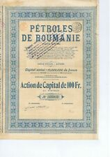 ROUMANIA  PETROLES DE ROUMANIE  1921