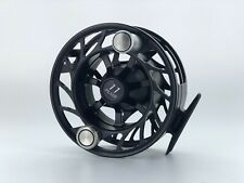 Hatch Finatic 11 Plus Fly Reel Large Arbor ~ Black/Silver ~ Closeout New
