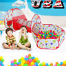 Large Indoor/Outdoor Kids Ball Pool Play Crawl Tunnel Set 3 in 1 Ball Pit Tent