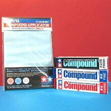Tamiya Polishing Compound (Coarse, Fine, Finish) + Compound Applicator combo set