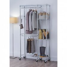 Mobile College Dorm Room Closet Organizer Shelf Storage Furniture Shelving