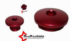 Kawasaki Kx450F Kxf 450 Pro Billet Oil Fill Plug Cap Kit Red 2009 2010 2011 2012