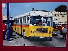 PHOTO  MALTA BUS  REG EBY 544 EX GDV 460N AT VALLETTA
