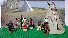 LEGO Indians Native American Minifigures lot NEW 100% Genuine LEGO READ PLZ