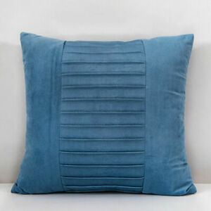 Pleated Super Soft Plush Cushion Covers Case Scatter Pillow Chenille Home Decor*
