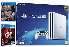 PlayStation Pro PS4 1 TB Bianco con Pro GT Sport & WWII-COD NUOVO e SIGILLATO