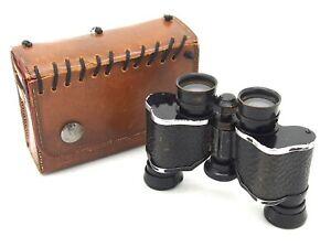 Vintage Starlux Minim 8x20 Binoculars in Leather Case, UK Dealer