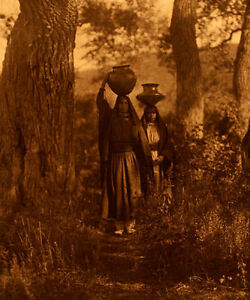 Taos Water Girls 15x22 Edward S. Curtis Native American Indian Art  Photograph