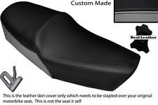 BLACK & GREY CUSTOM FITS HUONIAO HN 125-8 DUAL LEATHER SEAT COVER ONLY