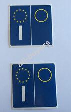 KIT 4 PEZZI ADESIVI BLU PVC PER TARGA AUTO EUROPA STICKERS 3,5cm X 6,8cm