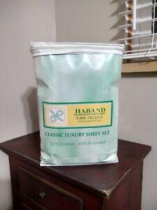 Haband Classic Luxury Sheet Set- Light Green King Size (Read)