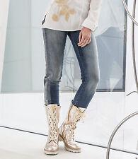 Stonewashed Damen-Jeans mit Strass und mittlerem Farbton