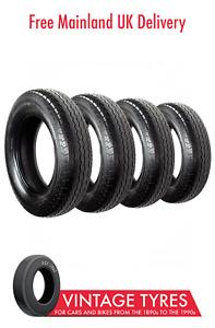 Set of 4 x Avon ACR6D Turbosteel Radial 185VR16 Tyres XK120 140 150 Aston DB4