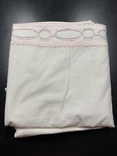 Restoration Hardware Baby Child Satin Stitch Links Duvet Full Queen Girl PInk