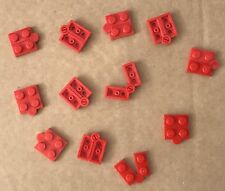 Lego 12 Red Hinge Plate 1x4 Swivel Top / Base Complete Assembly Bulk Parts Lot