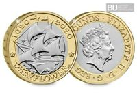 2020 UK 400th Anniversary Mayflower CERTIFIED BU £2 coin Brilliant Uncirculated