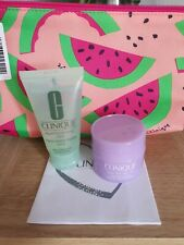 Clinique skin care gift set , includes liquid soap , cleansing balm and bag....