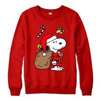 Snoopy Christmas Jumper, Snoopy Santa Xmas Festive Gift Adult & Kids Jumper Top