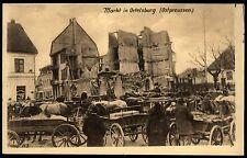 Markt im zerstörten ORTELSBURG Szczytno - AK der Ostpreußenhilfe um 1916