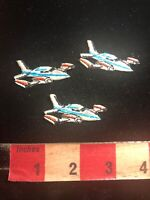 Aviation Airplane Patch Lot Of 3 Teeny-tiny Airplane Patches 03WE