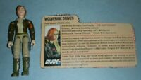 1983 GI Joe Wolverine Tank Driver Cover Girl v1 Figure w/ File Card *Complete