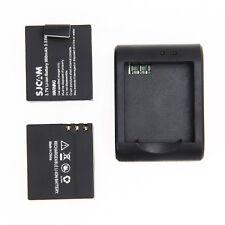 2Pcs 900mAh Li-ion Battery+Charger for SJCAM SJ4000 SJ5000 SJ8000 SJ9000 Camera