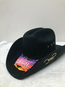 MEN'S BLACK WESTERN COWBOY HAT,TEXANA ECONOMICA HORMA DURANGUENSE