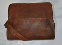 Mens Genuine Leather Cowhide Brown Crossbody Shoulder Satchel Messenger Bag.....
