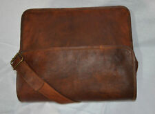 Mens Genuine Leather Cowhide Brown Crossbody Shoulder Satchel Messenger Bag.....
