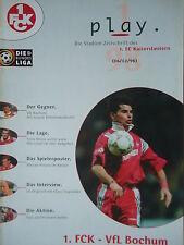 Program 1997/98 1. Fc Kaiserslautern - Vfl Bochum